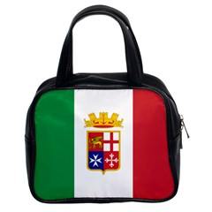 Naval Ensign Of Italy Classic Handbags (2 Sides) by abbeyz71