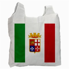 Naval Ensign Of Italy Recycle Bag (two Side)  by abbeyz71