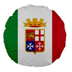 Naval Ensign Of Italy Large 18  Premium Round Cushions by abbeyz71