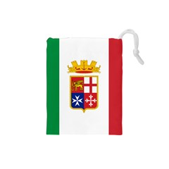 Naval Ensign Of Italy Drawstring Pouches (small)  by abbeyz71