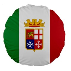 Naval Ensign Of Italy Large 18  Premium Flano Round Cushions by abbeyz71