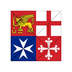 Naval Jack Of Italian Navy  Acrylic Tangram Puzzle (4  X 4 ) by abbeyz71