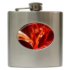 Red Abstract Pattern Texture Hip Flask (6 Oz)