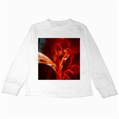 Red Abstract Pattern Texture Kids Long Sleeve T Shirts