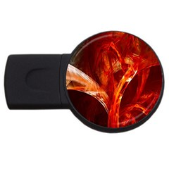 Red Abstract Pattern Texture Usb Flash Drive Round (4 Gb) by Nexatart