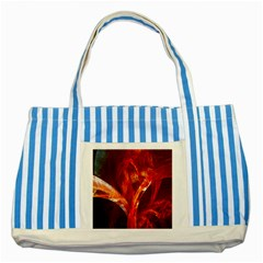 Red Abstract Pattern Texture Striped Blue Tote Bag