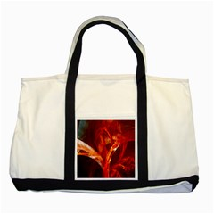 Red Abstract Pattern Texture Two Tone Tote Bag by Nexatart