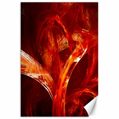 Red Abstract Pattern Texture Canvas 20  X 30   by Nexatart