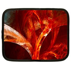 Red Abstract Pattern Texture Netbook Case (large) by Nexatart