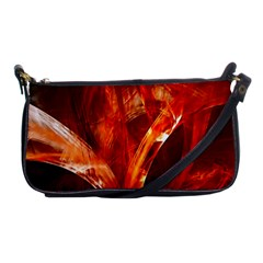 Red Abstract Pattern Texture Shoulder Clutch Bags by Nexatart