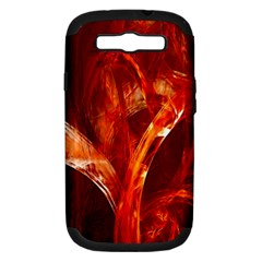 Red Abstract Pattern Texture Samsung Galaxy S Iii Hardshell Case (pc+silicone) by Nexatart