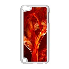 Red Abstract Pattern Texture Apple Ipod Touch 5 Case (white)