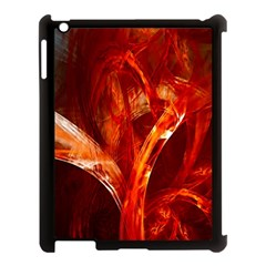 Red Abstract Pattern Texture Apple Ipad 3/4 Case (black) by Nexatart