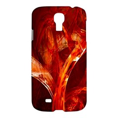 Red Abstract Pattern Texture Samsung Galaxy S4 I9500/i9505 Hardshell Case