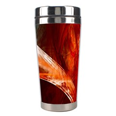Red Abstract Pattern Texture Stainless Steel Travel Tumblers by Nexatart