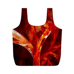 Red Abstract Pattern Texture Full Print Recycle Bags (m)