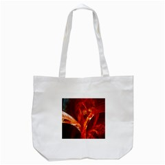 Red Abstract Pattern Texture Tote Bag (white) by Nexatart