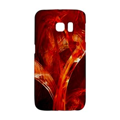 Red Abstract Pattern Texture Galaxy S6 Edge by Nexatart