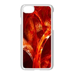 Red Abstract Pattern Texture Apple Iphone 7 Seamless Case (white) by Nexatart