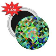 Pixel Pattern A Completely Seamless Background Design 2 25  Magnets (10 Pack)  by Nexatart