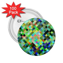 Pixel Pattern A Completely Seamless Background Design 2 25  Buttons (100 Pack)