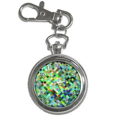Pixel Pattern A Completely Seamless Background Design Key Chain Watches