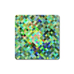 Pixel Pattern A Completely Seamless Background Design Square Magnet