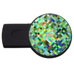 Pixel Pattern A Completely Seamless Background Design Usb Flash Drive Round (2 Gb) by Nexatart