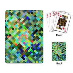 Pixel Pattern A Completely Seamless Background Design Playing Card by Nexatart