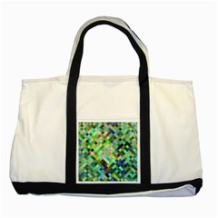Pixel Pattern A Completely Seamless Background Design Two Tone Tote Bag