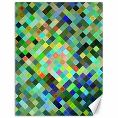 Pixel Pattern A Completely Seamless Background Design Canvas 12  X 16