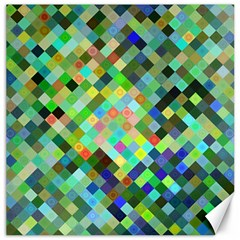 Pixel Pattern A Completely Seamless Background Design Canvas 16  X 16