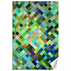 Pixel Pattern A Completely Seamless Background Design Canvas 24  X 36  by Nexatart