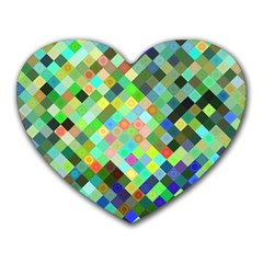 Pixel Pattern A Completely Seamless Background Design Heart Mousepads by Nexatart