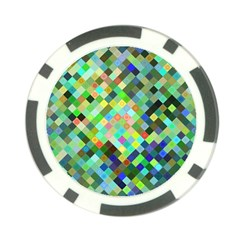 Pixel Pattern A Completely Seamless Background Design Poker Chip Card Guard (10 Pack)