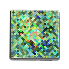 Pixel Pattern A Completely Seamless Background Design Memory Card Reader (square)