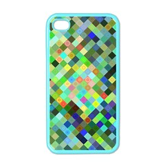 Pixel Pattern A Completely Seamless Background Design Apple Iphone 4 Case (color) by Nexatart