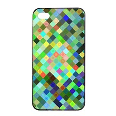Pixel Pattern A Completely Seamless Background Design Apple Iphone 4/4s Seamless Case (black)
