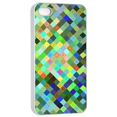 Pixel Pattern A Completely Seamless Background Design Apple Iphone 4/4s Seamless Case (white) by Nexatart