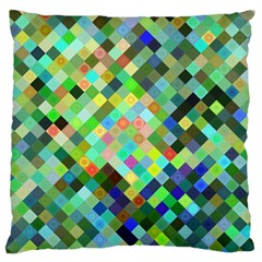 Pixel Pattern A Completely Seamless Background Design Large Cushion Case (one Side) by Nexatart