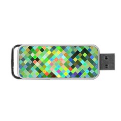 Pixel Pattern A Completely Seamless Background Design Portable Usb Flash (two Sides) by Nexatart