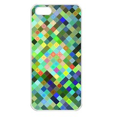 Pixel Pattern A Completely Seamless Background Design Apple Iphone 5 Seamless Case (white) by Nexatart