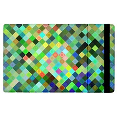 Pixel Pattern A Completely Seamless Background Design Apple Ipad 2 Flip Case by Nexatart