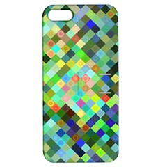 Pixel Pattern A Completely Seamless Background Design Apple Iphone 5 Hardshell Case With Stand by Nexatart