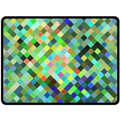 Pixel Pattern A Completely Seamless Background Design Double Sided Fleece Blanket (large)  by Nexatart