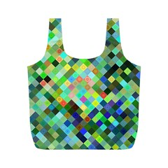 Pixel Pattern A Completely Seamless Background Design Full Print Recycle Bags (m)