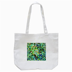 Pixel Pattern A Completely Seamless Background Design Tote Bag (white)