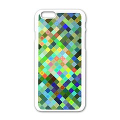 Pixel Pattern A Completely Seamless Background Design Apple Iphone 6/6s White Enamel Case by Nexatart