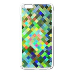 Pixel Pattern A Completely Seamless Background Design Apple Iphone 6 Plus/6s Plus Enamel White Case by Nexatart