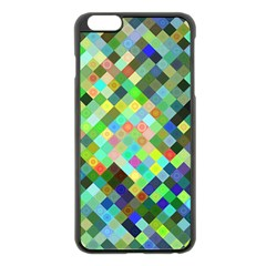 Pixel Pattern A Completely Seamless Background Design Apple Iphone 6 Plus/6s Plus Black Enamel Case by Nexatart